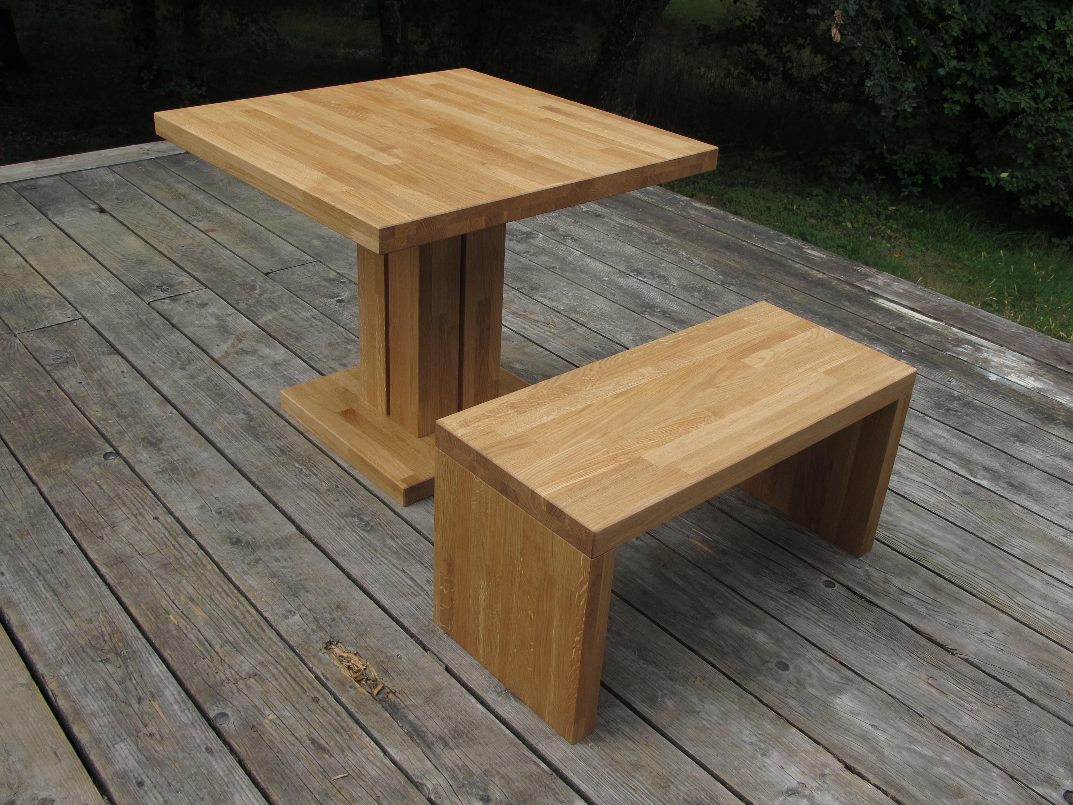 unique table en bois exterieur id es de salon de jardin. Black Bedroom Furniture Sets. Home Design Ideas