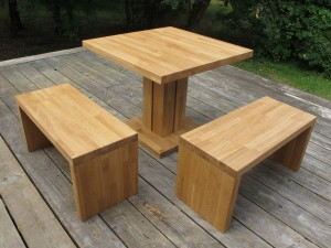 Bancs tabourets flip design bois - Table banc exterieur ...