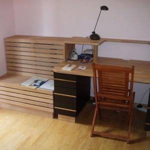 Univers bureau flip design boisflip design bois for Plan de travail sur mesure bois massif