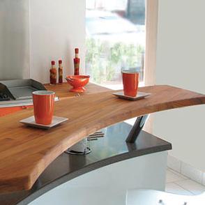 Univers cuisine flip design bois for Ilot cuisine mange debout
