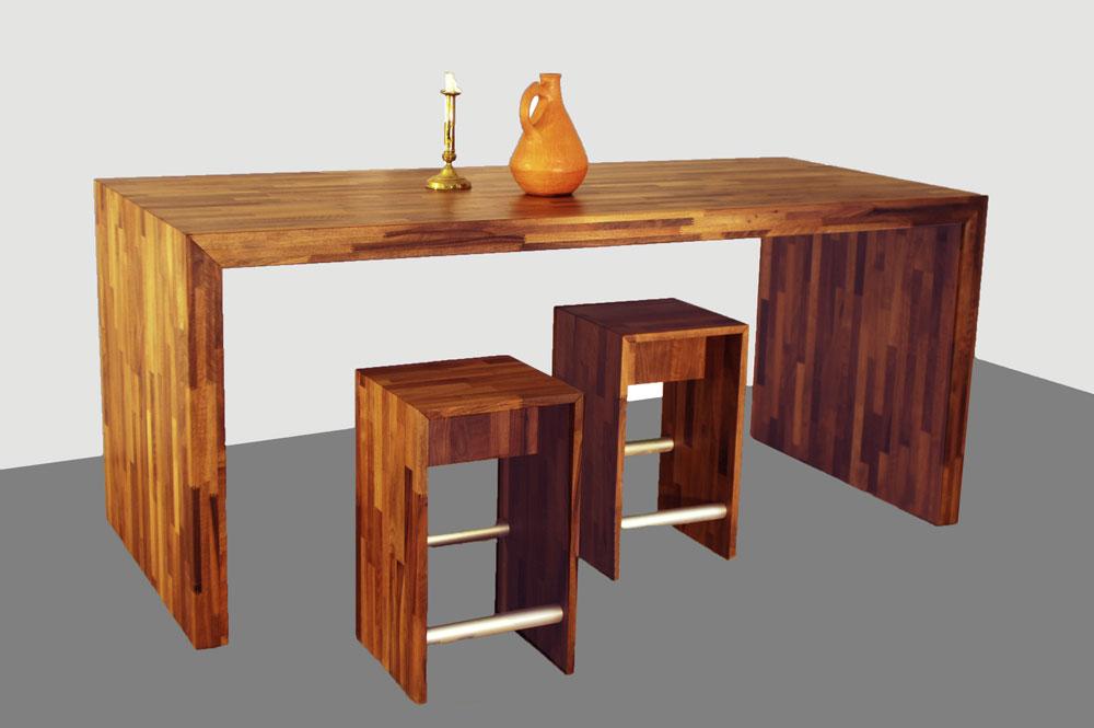 Table pont bois massif flip design boisflip design bois - Plan de travail bois massif sur mesure ...