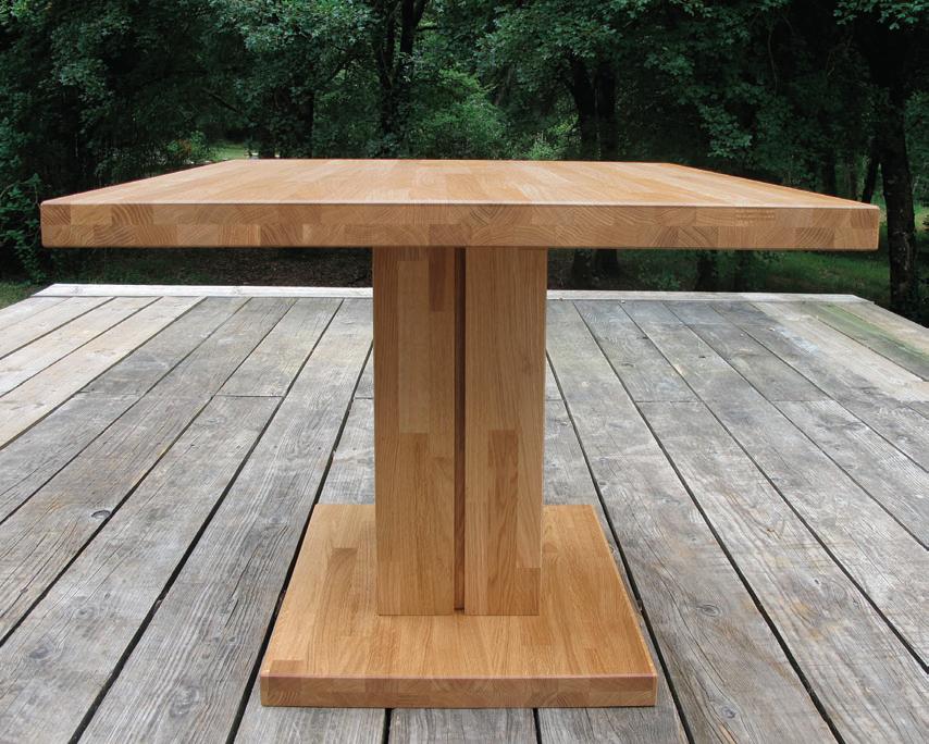table bois massif sur mesure. Black Bedroom Furniture Sets. Home Design Ideas