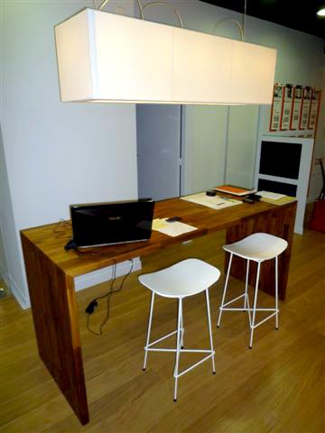 Bureau flip design boisflip design bois - Plan de travail pour bureau sur mesure ...