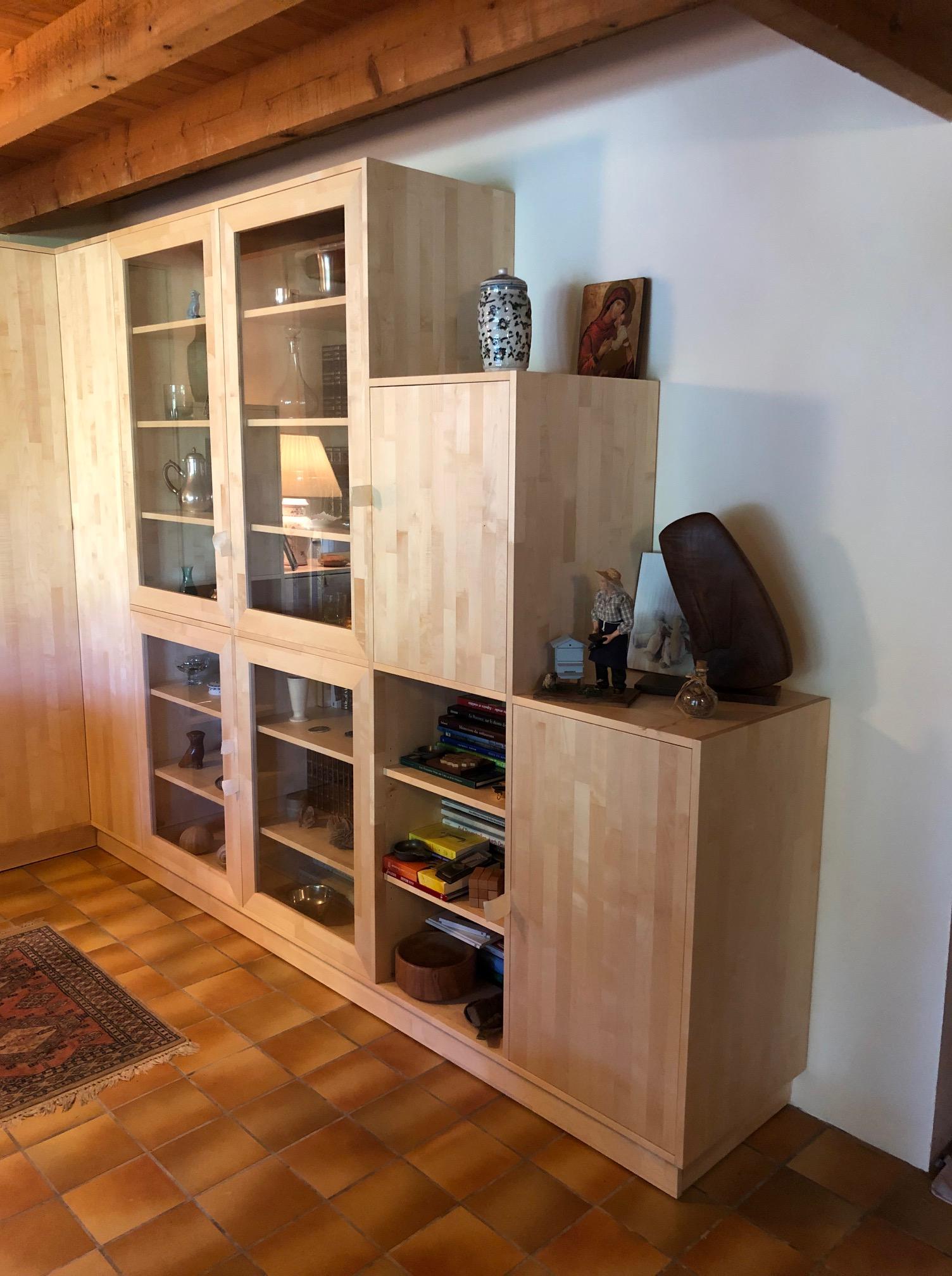 Bibliotheque-Sur-mesure-bois-massif